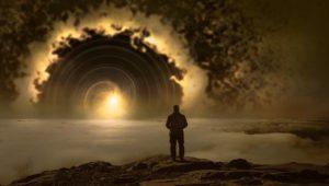 洞窟を抜け出すシーン