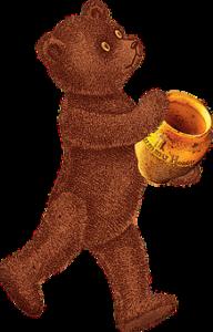 壺を持つ熊